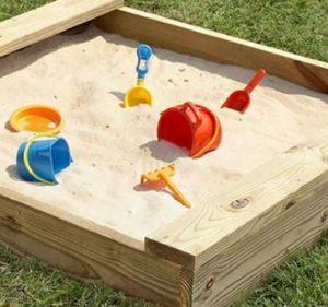 child's sandbox