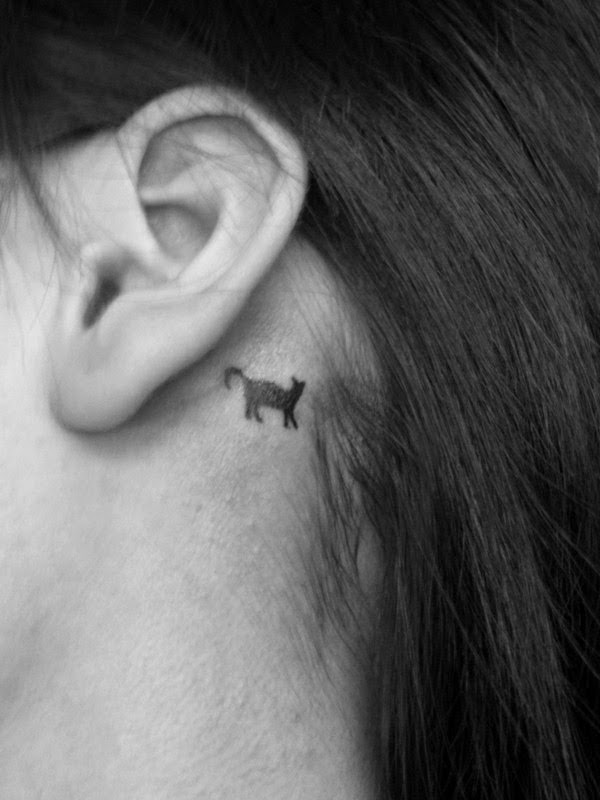 Cat Stamp Tattoo