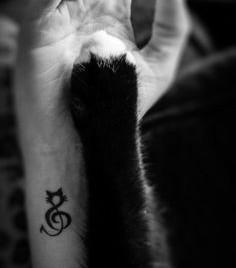 Music Cat Tattoo