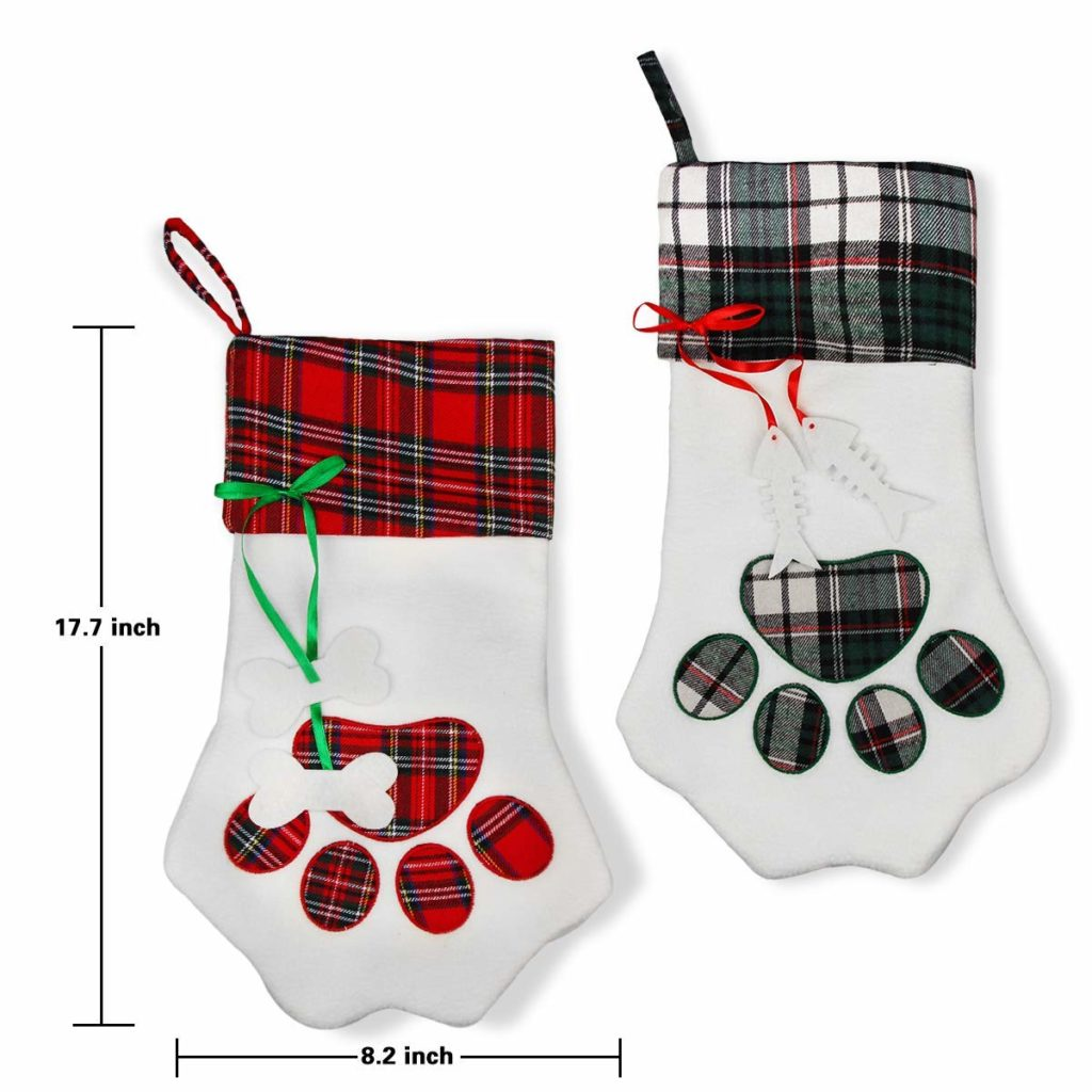 Aiduy Pet Christmas Stocking