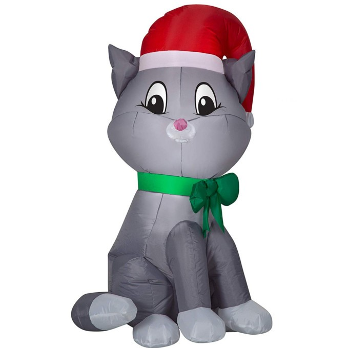 Airblown Inflatables Christmas Santa Cat