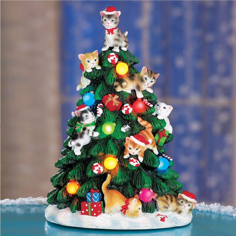 Collections Ect Christmas Cat Tree Light