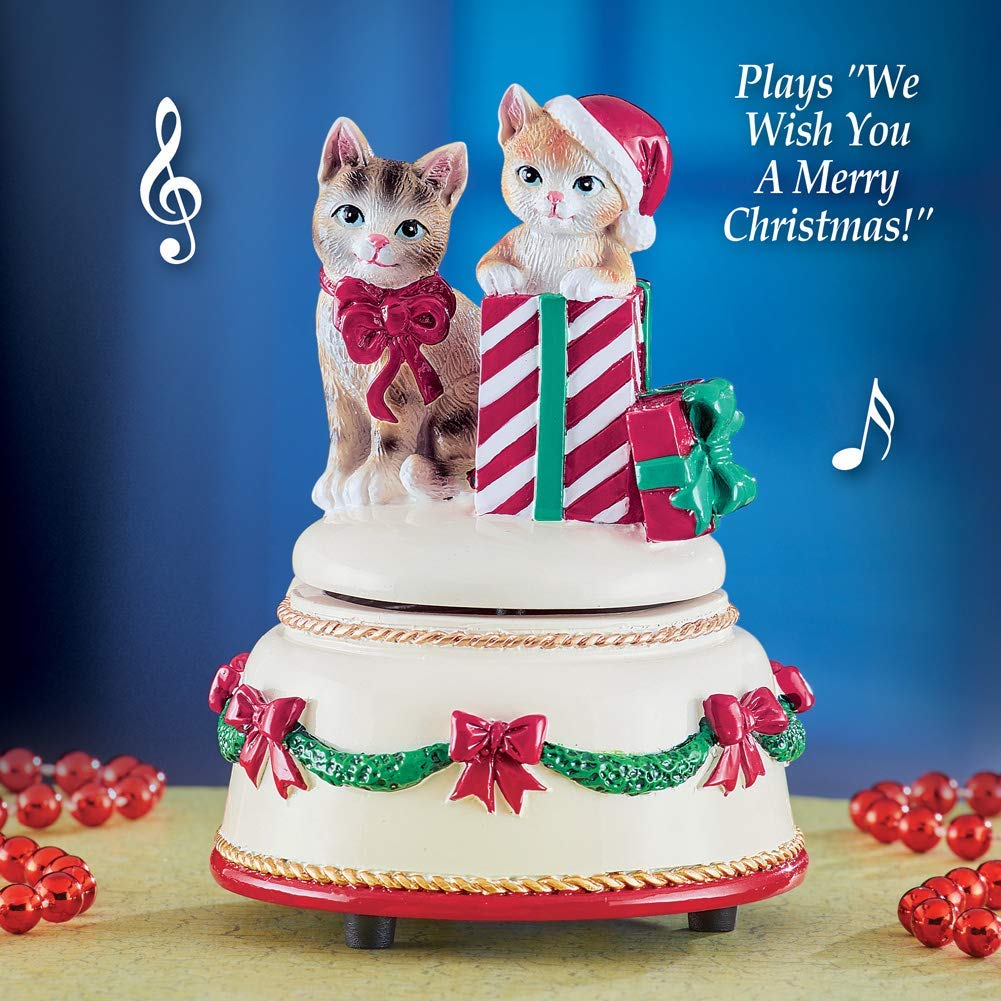 Collections Ect Christmas Musical Cat Box