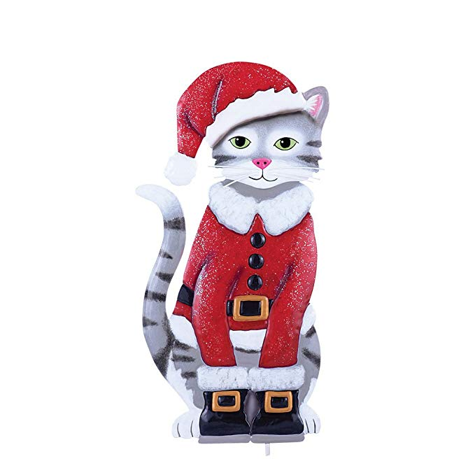 Collections Ect Santa Cat Garden Stake