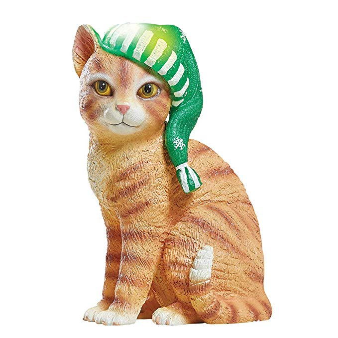 Collections Ect Seasons Greetings Solar Cat