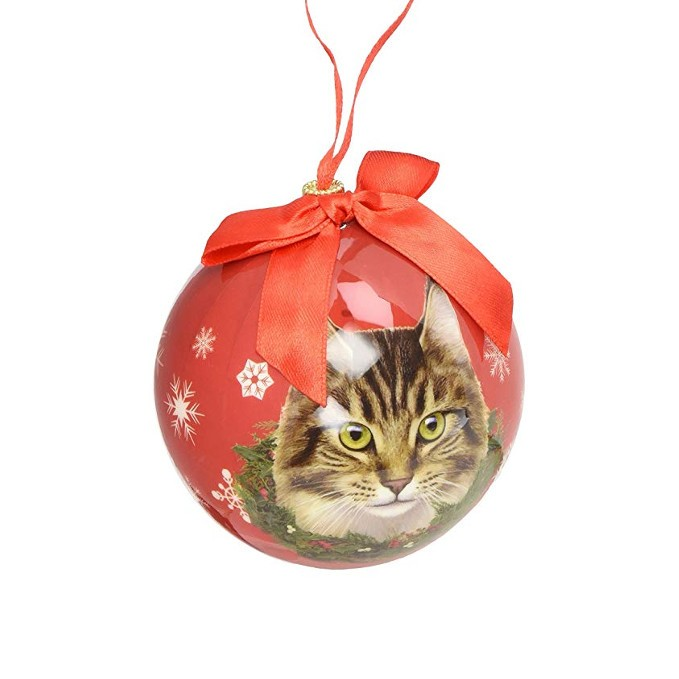 E&S Pets Maine Coon Cat Bobble Ornament