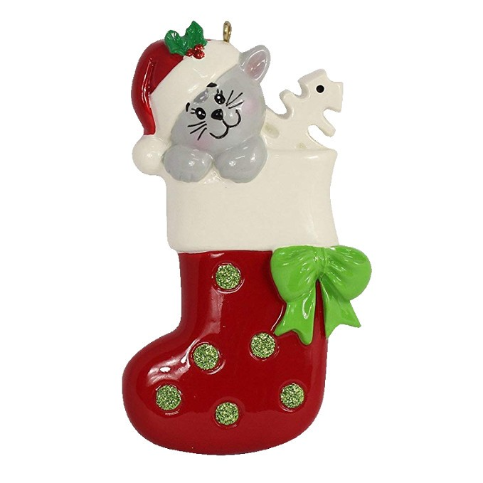 MAXORA Personalized Kitty Gift Stocking Ornament