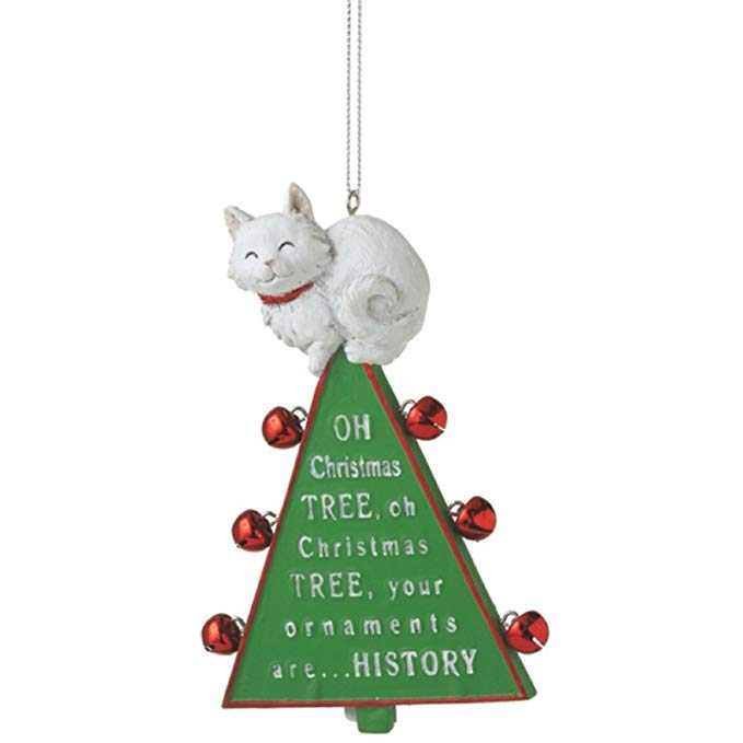 Midwest-CBK Oh Christmas Tree Cat Ornament