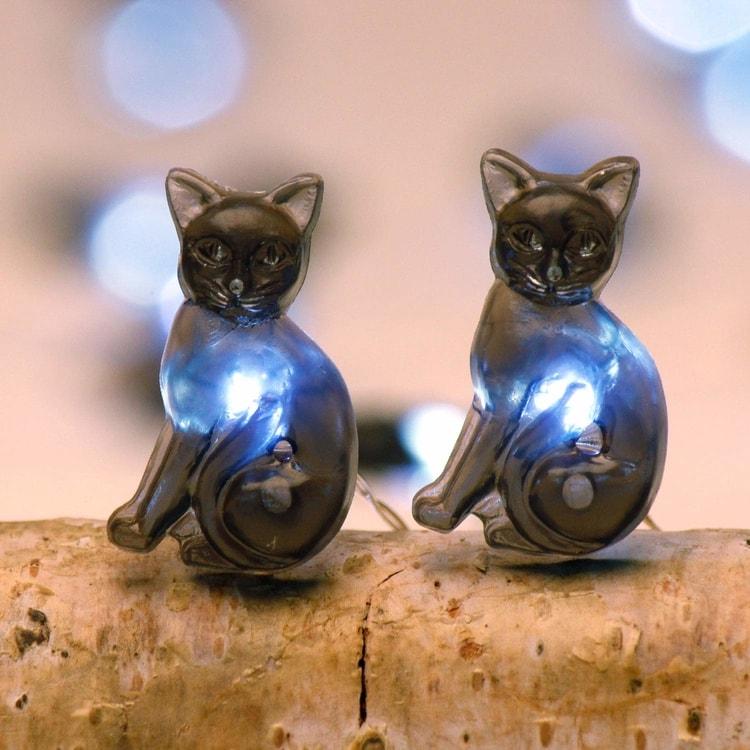 Cat LED String Lights