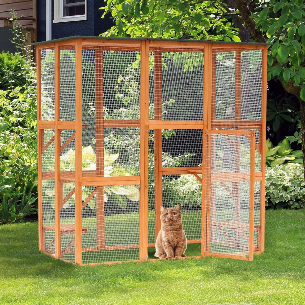 outdoor cat enclosure catio